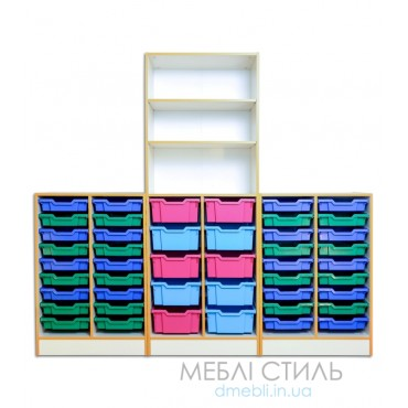 80416 Шкаф для хранения с пластиковыми ящиками 2070х440х1864 мм