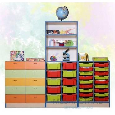 80412 Шкаф для хранения дидактического материала 2230x460x1864