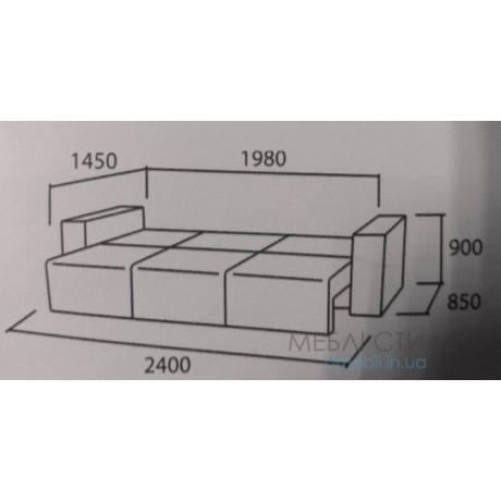Диван еврокнижка 2400х850 (спальное место1450х1980)