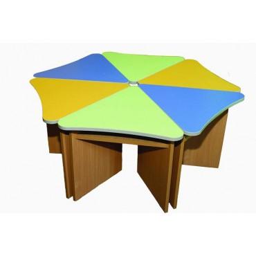 4631 Комплект столов детских Лепесток (6шт.) 1200х1200хН520мм