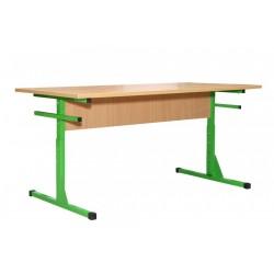24025-Пл Стол для столовых 4-местный 1200х600х640-760 на швеллер, с пластиковой столешницей, регулируется на ростовые группы №4-6