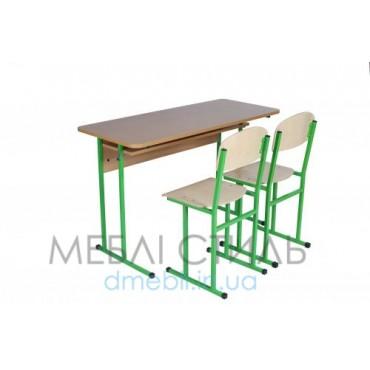 0148+2х90212 Комплект ученический 2-местный с полкой  обр. №6