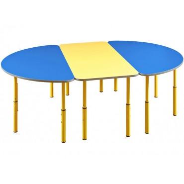 23660 + 2х23662 Комплект столов 1100х550 / 553х460-580 регулируемый по высоте №1-3