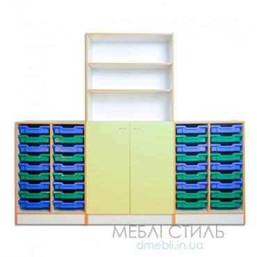 80419 Шкаф для хранения дидактического материала 2230х440х1864 мм
