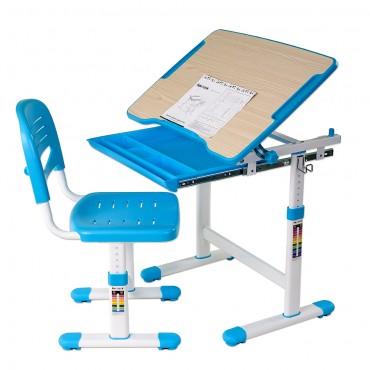 Р-01 Комплект трансформер 1-місний (парта 664x474x540-760 мм   + стілець 386x380x673-793 мм)