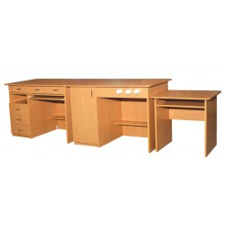 0198 Комплект столов демонстрационных для кабинетов физики, и химии 3100х750х900 (3 элемента)