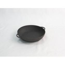 Сковорода жаровня чугунная без крышки d34см