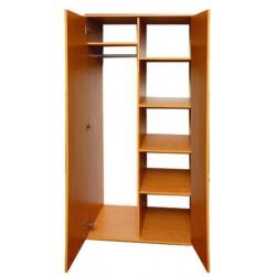 0636 Шкаф для одежды и книг полузакрытый 2-х дверный 802х519х1816 (496мм внутр), без антресоли