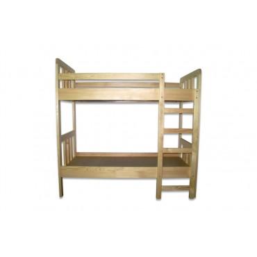 81314 Кровать детская 2-х ярусная из натуральной древесины 1450х700х1450