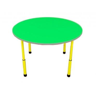 22776 Стол детский круглый с регулировкой по высоте 900х900х460-580 мм