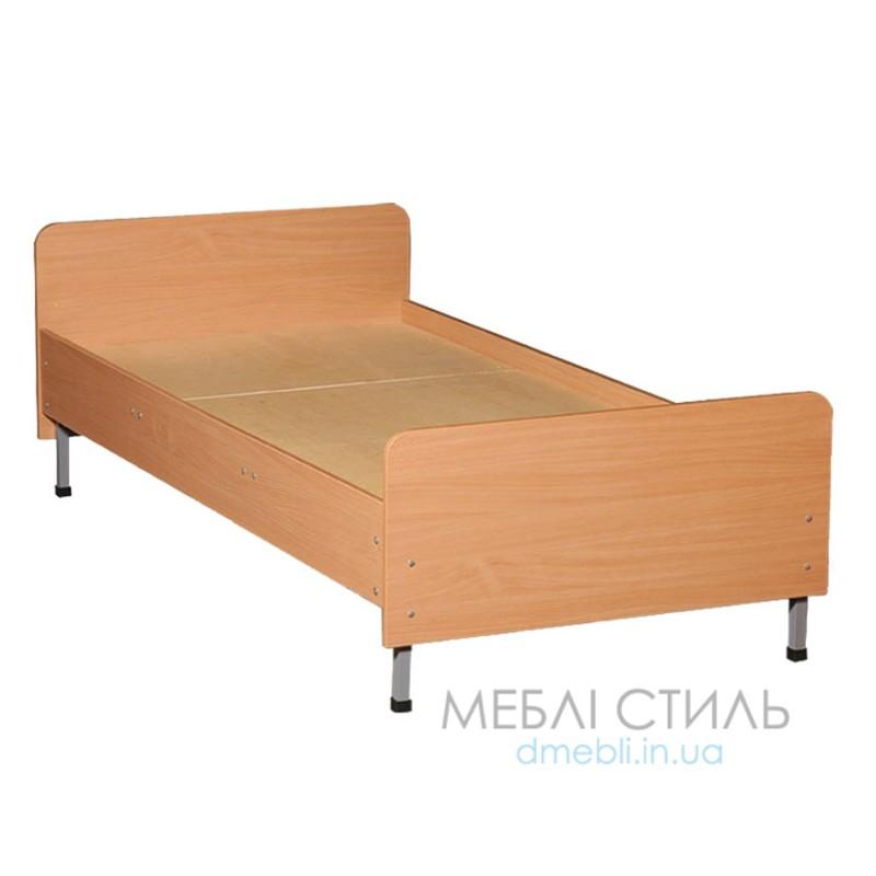 0816 Ліжко одно-спальні, спинки Із заокругленими кутамі, 1900х700х (610-510) мм