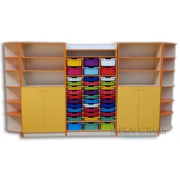 80413 Шкаф для хранения дидактического материала 3530х440х1864 мм