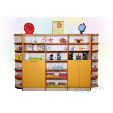 80411 Шкаф для хранения дидактического материала 3380x432x1864