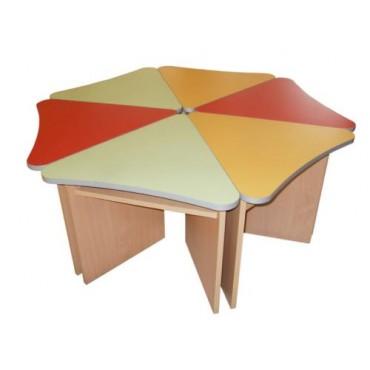 4655 Комплект столов детских Лепесток (6шт.) 1200х1200хН460мм