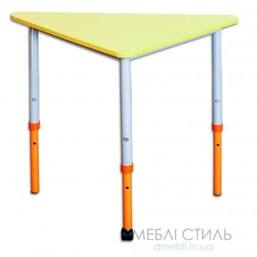 80512 Стол модульный мобильный «Треугольник 90⁰» 800x435х640-760