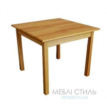 81112 Стол детский квадратный из натуральной древесины 700х700