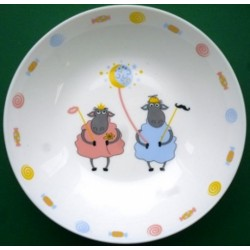 Тарелка стеклокерамическая глубокая 190 мм с детским рисунком