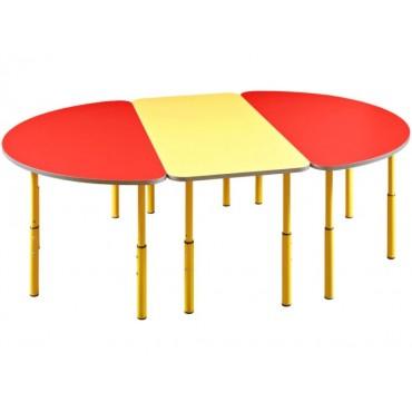 23660 Стол детский прямоугольный 1100х500х460-580 регулируемый по высоте №1-3