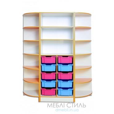 80417 Шкаф для хранения дидактического материала 1520х440х1864 мм