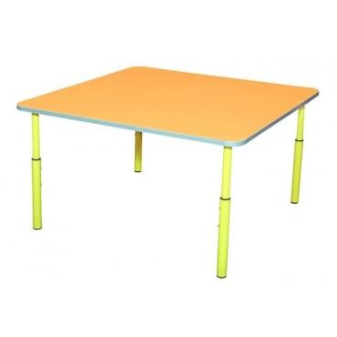 17240 Стол детский квадратный регулируемый по высоте 830х830хН460-580 мм