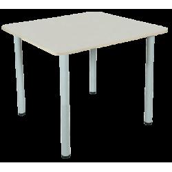 30088 Стол для столовых квадратный 4-местный, круглая труба, ростовая группа №6 900х900х760 мм