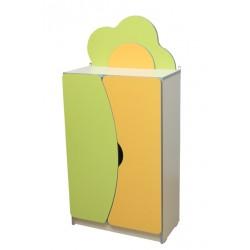 """28509 Стенка детская """"Цветочная поляна"""" №2 с дверью 600х300х1247 мм"""
