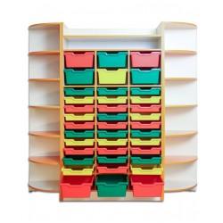 80420 Шкаф для хранения дидактического материала 1830х440х1864 мм
